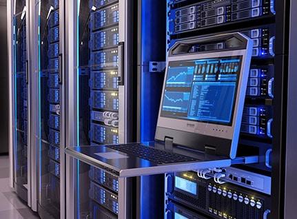Interior of a datacentre